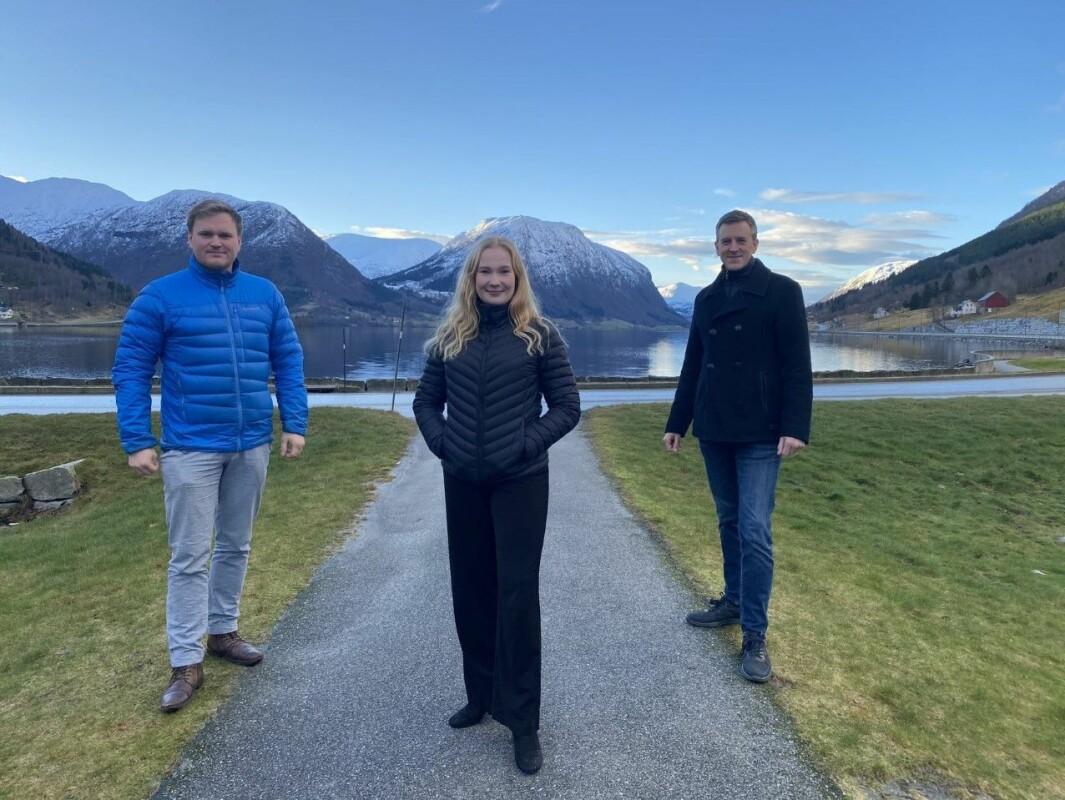 STORTINGSKANDIDATAR: Aleksander Heen, Emma Berge Ness og Erling Sande for Sogn og Fjordane Sp.