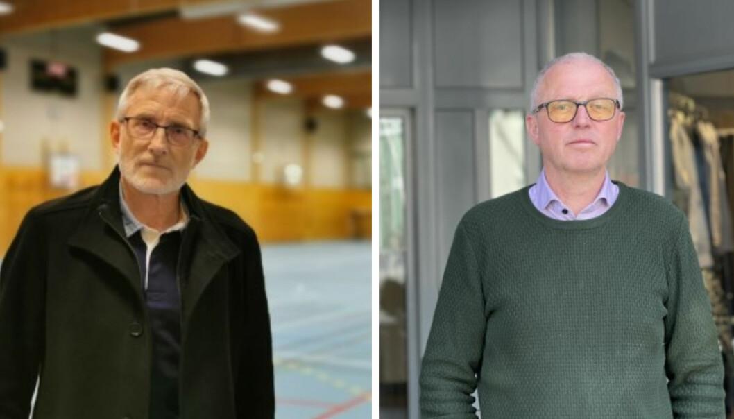 KOMMUNEOVERLEGAR: Knut Cotta Schønberg og Frode Myklebust peiker på fleire uromoment med vaksineringstrategien.
