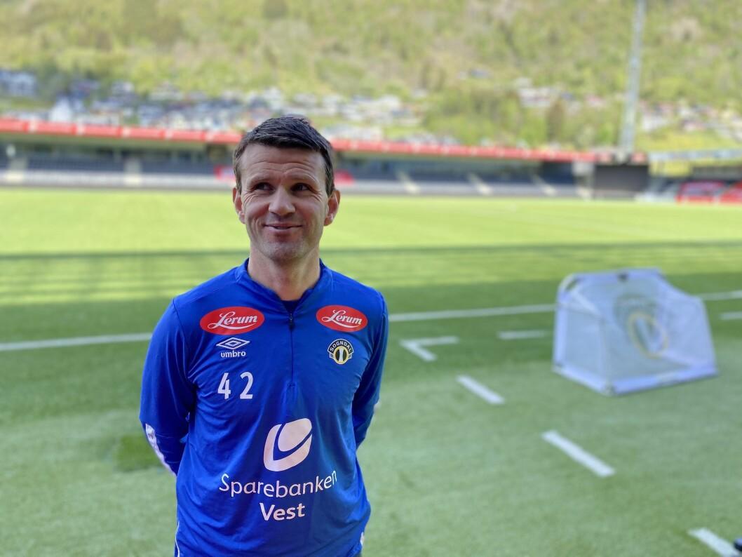 OPTIMIST: Sogndaltrenar Eirik Bakke håpar kampen mot FFK onsdag blir ein vendepunkt for klubben.