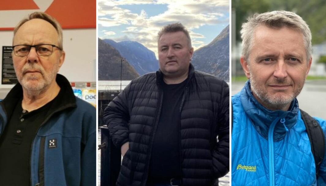 REAGERER: Frå venstre - Steinar Drægni, Henrik Rønningen og Kjell Nesse
