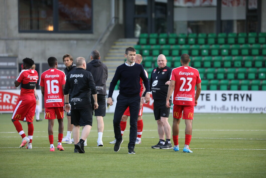 SKUFFA: Eirik Bakke sine menn gjekk på nok eit tap, mot FFK i dag.