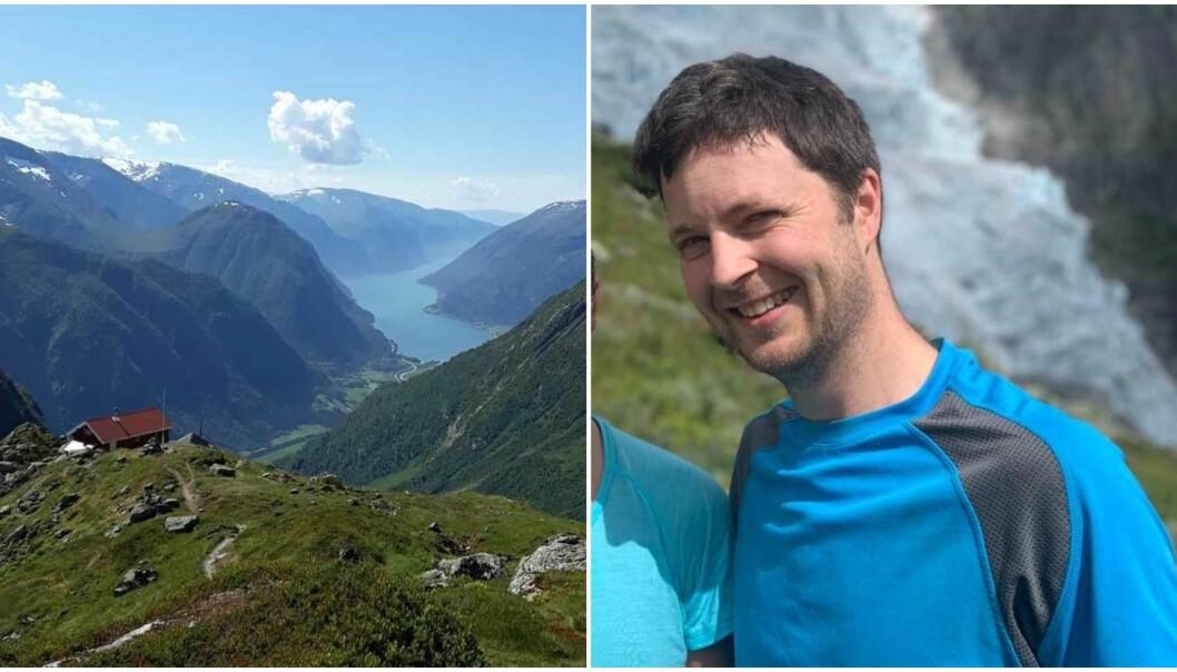 INDRE SOGN: Hytta som ligg like ved foten av Jostedalsbreen er ein populær tur, og Andre Øygard meiner han har omlag 2000 personar som går turen opp dit kvar sesong.