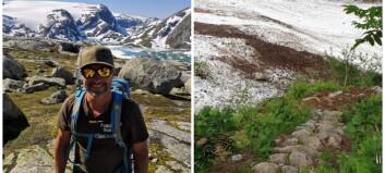 Når sherpaene ikkje kjem inn i landet, trør Jarle til får å restaurere stien