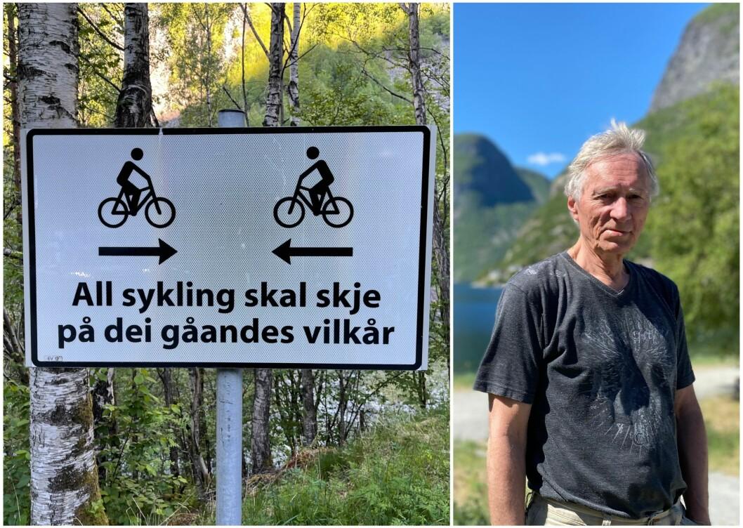 IKKJE LOV: På Vettisvegen kan du sykle, men ikkje om du får hjelp frå ein el-motor.