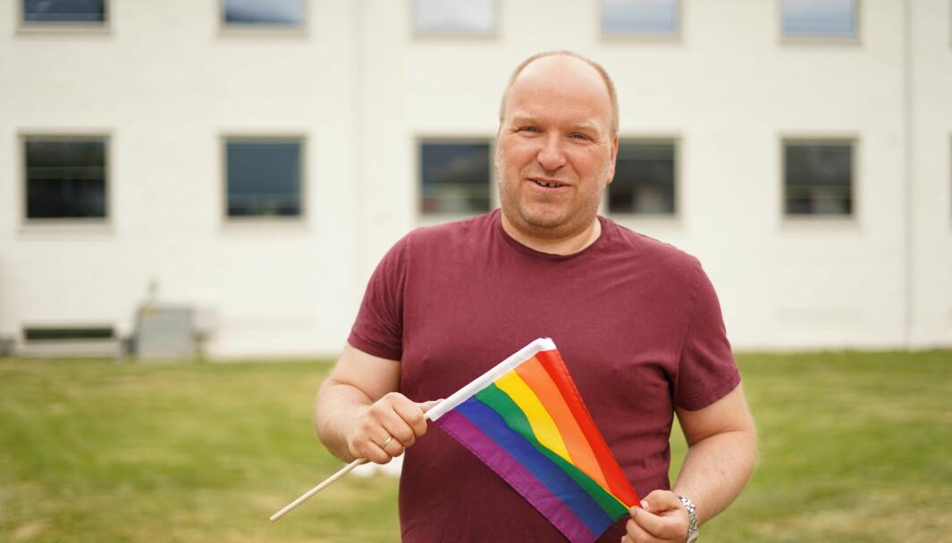 MANGFALD: Trebarnsfaren Svein Jarle Slinde er oppteken av at det ikkje berre er dei skeive som skal markere Pride.
