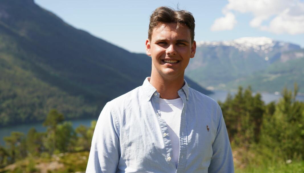DAGLEG LEIAR: Markus Solberg er den yngste av dei fem kameratane, og har ansvaret som dagleg leiar.