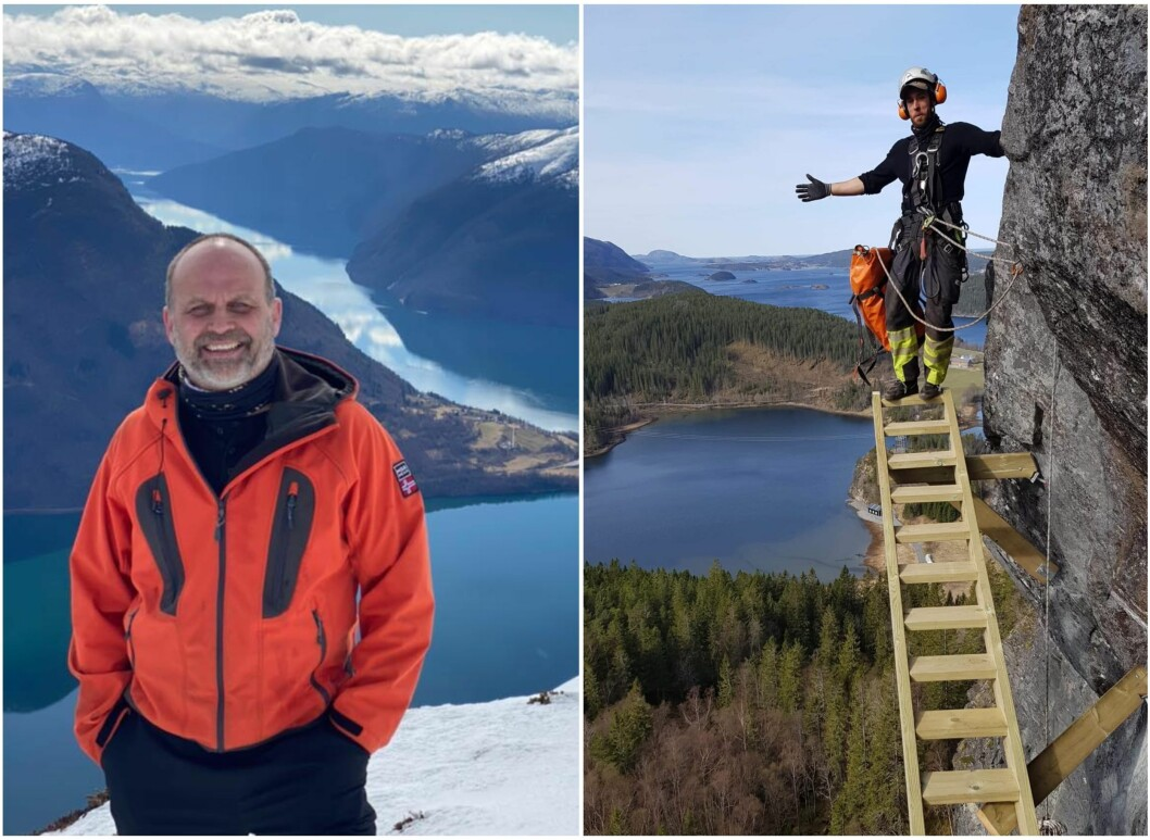 VIA FERRATA: Ketil Raaum skal ta opplevinga på Raaum Gard steget vidare med klatreopplevingar