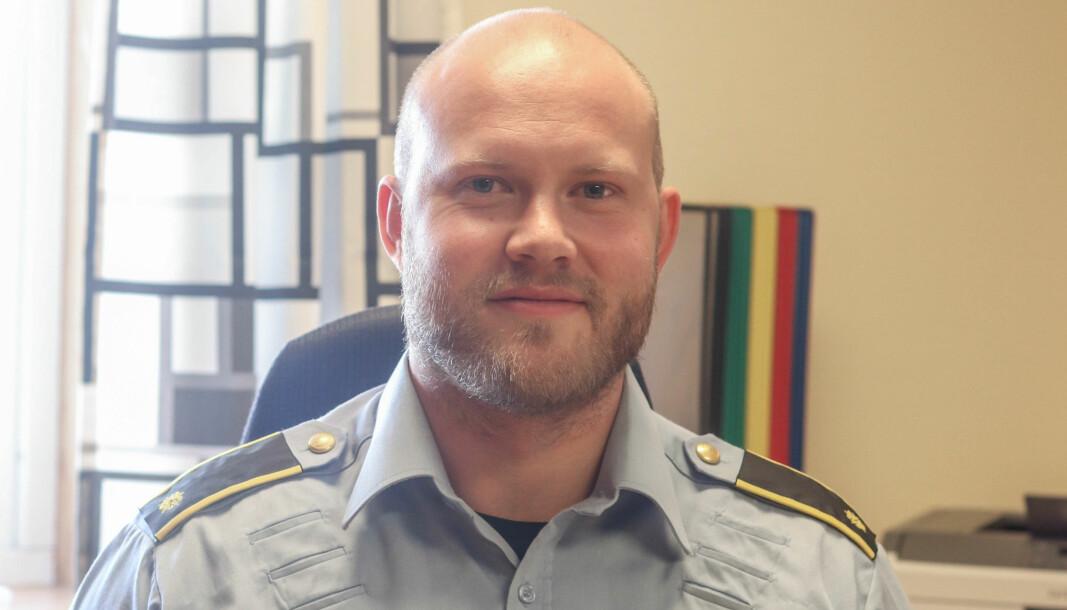 ALVORLEG: Leiar i Høyanger-politet Kristoffer Jorddal Lønning ser alvorleg på saka.