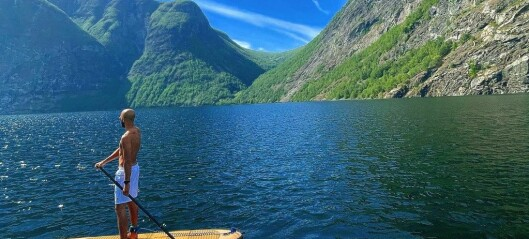 Denne dagen låg alt til rette for ein perfekt SUP tur på vatnet