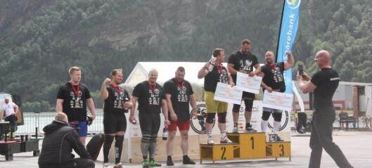 Tett om pallplassen då nokre av norges sterkaste menn møttes i Luster for å konkurrera