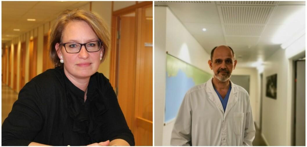 POSITIVE: Kommuneoverlege Kristine Longfellow i Høyanger og Leiv Erik Husabø i Sogndal.