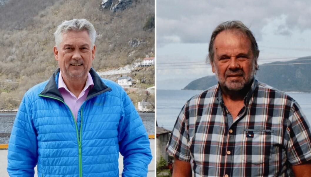 HØYANGER/GULEN: Endeleg kan ordføraren i Høyanger, Petter Sortland, og i Gulen, Hallvard Oppedal, glede seg over at fleire bustadsområder får tilgang til skikkeleg breiband.