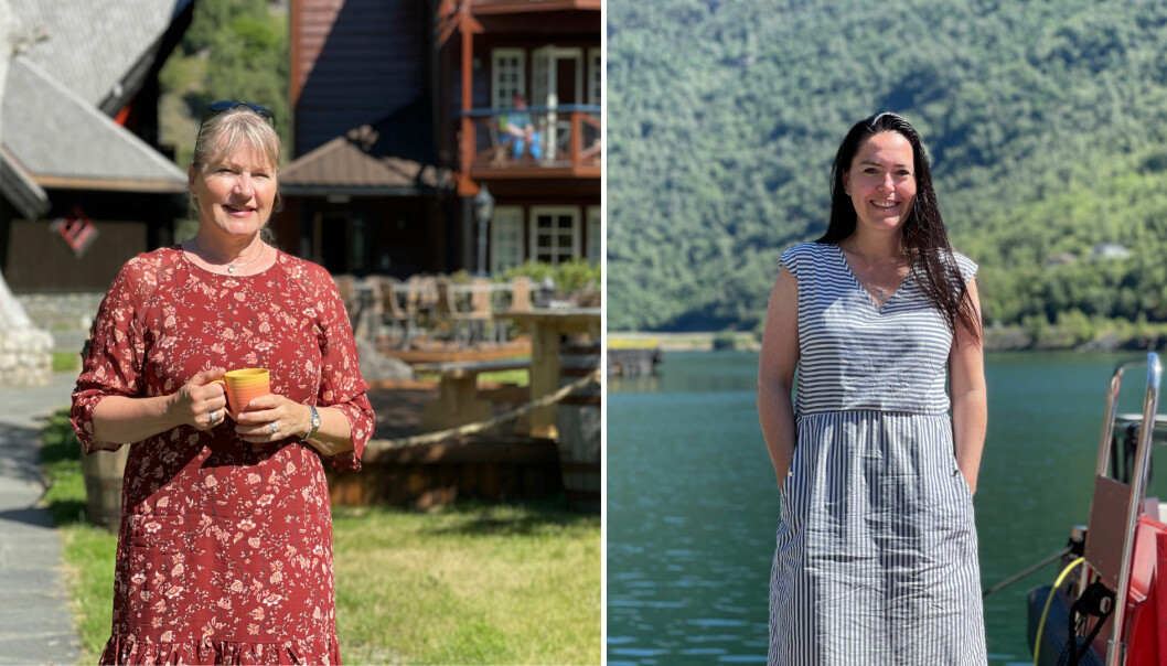 UTFORDRANDE: Aud Melås og May Lene Steinheim Lunden har begge arbeida hardt for å halde liv i verksemdene sine i Flåm.