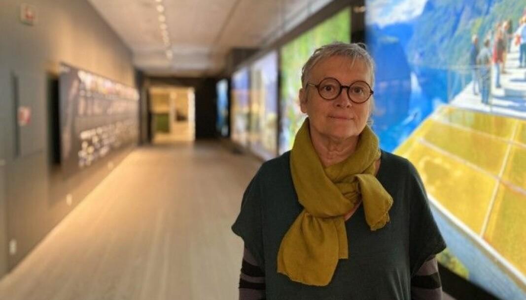 BALESTRAND: Mary Ann Menes er museumspedagog ved Norsk Reiselivsmuseum og harr jobba iherdig for å få på plass den nyaste utstillinga.