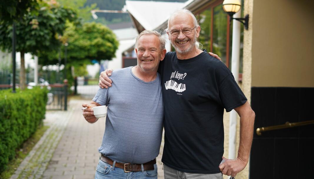 GJENSYN: Det er gledeleg for både Atle Lægreid og Reidar Larsen å endeleg være i gong med festival.