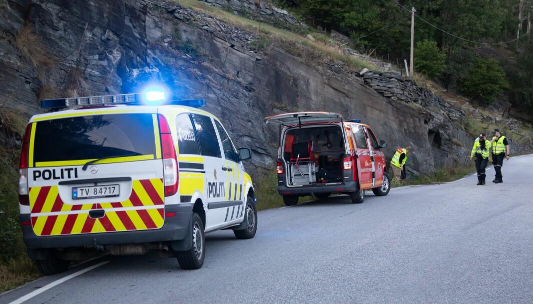 ULUKKE: Naudetatar rykka ut etter hendinga, som skal ha skjedd i nærleiken av ungdomshuset på Nes.