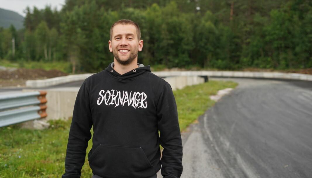 ENGASJERT: Brynjar Skahjem er ein av dei som har vore særs engasjerte i oppgradering av driftingbana på Kaupanger.