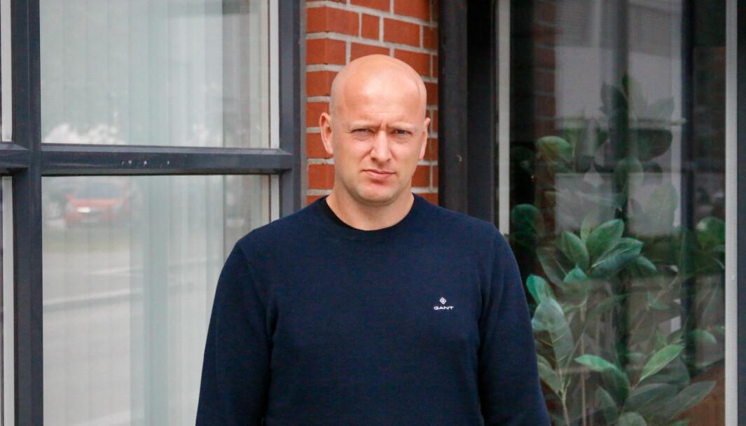 UVERKELEG: Øystein Lindesteg Rinde var på veg til Oslo då terroren fann stad. Han frakta to ungdommar til sikkerheit.