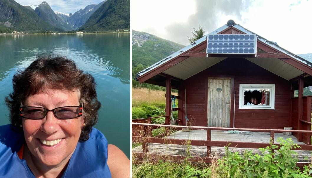 FJÆRLAND: Klara Heimli Bøyum tykte det var eit trasigt å sjå hærverk på hyttene.