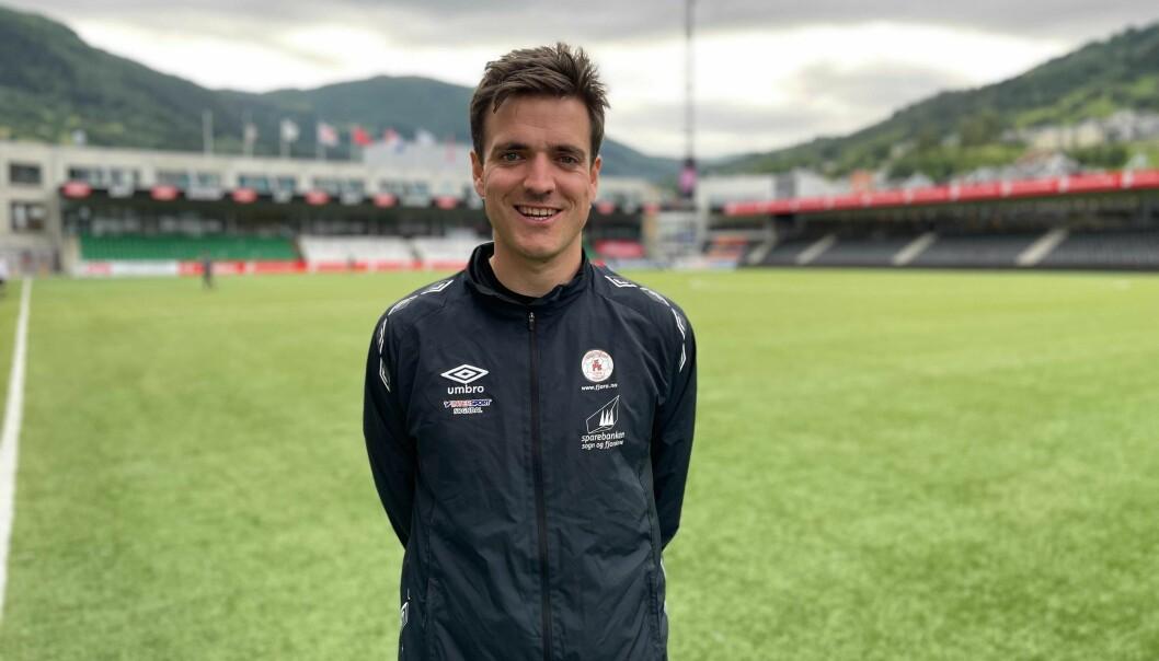 KLAR: Fjøratrenar Håvard Øygarden gler seg til å spela ein meiningsfylt kamp mot Sogndal.