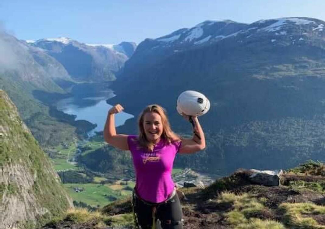 TILBAKE: Jeanette Pedersen ville tilbake til Sogn då ho skulle studere. Naturen her skil seg litt frå den på Sørlandet.