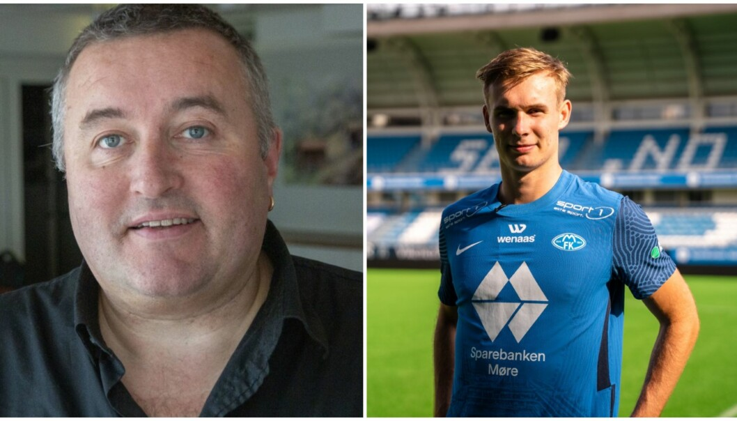 AVTALE: Avtalen med Molde FK er signert, og Sivert Mannsverk frå Øvre Årdal er klar for ny klubb. Det medfører ein pengesum til gamleklubben Jotun.