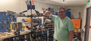 Jan Are rakk så vidt å montere opp den eine sykkelen han hadde før han var seld: – Det er heilt krise