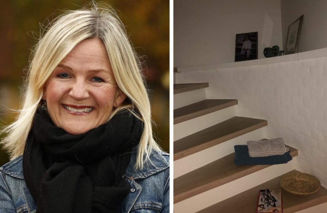 LA DET LIGG: Kristin Vee trur berre ho sjølv og andre har bruk for å tørre å la ting ligge, slik kjærasten lar ting ligge att i trappa.