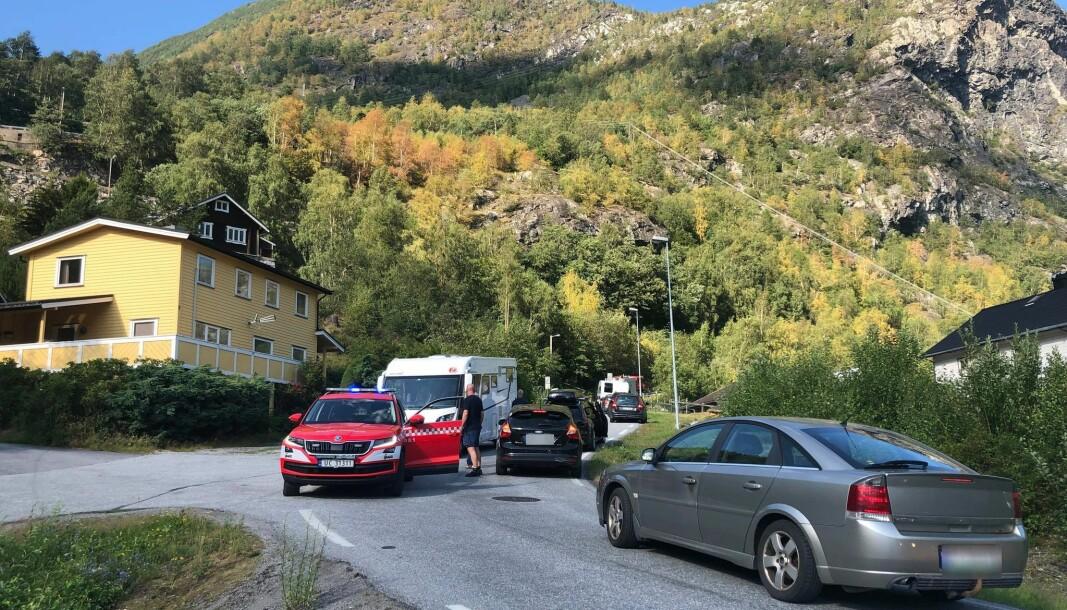 KØ: Det er melding om kø opp til Fardalen.