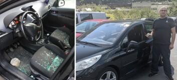 Slik såg bilen til Aleksandar ut etter helga: – Unødvendig