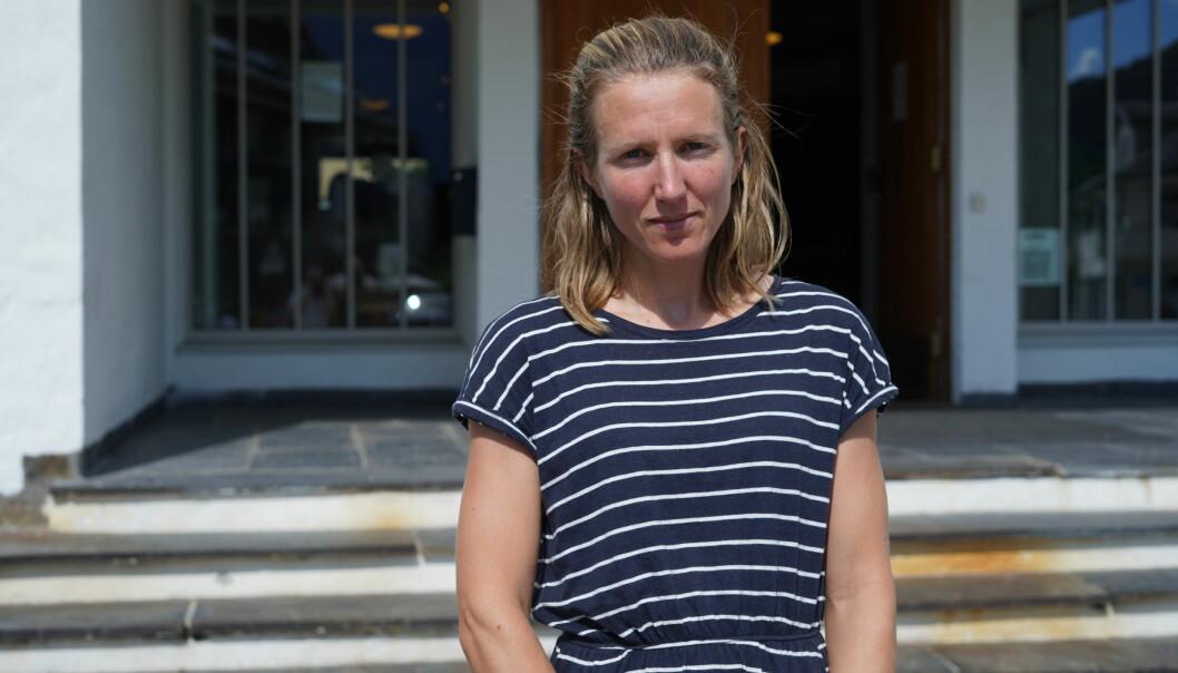 VERDIFULLE: Kari-Anne Kirsebom Strandman fortel at trea som blei tekne vekk er verdifulle når dei fyrst er blitt so store som dei var.