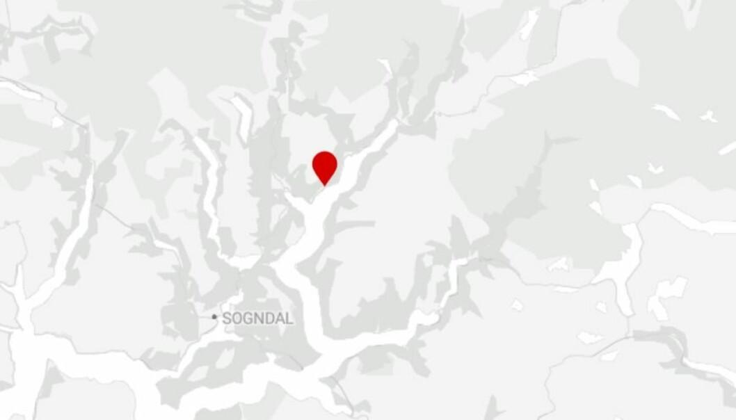 LUSTER: Hendinga har skjedd på Fv.55 i Luster kommune.