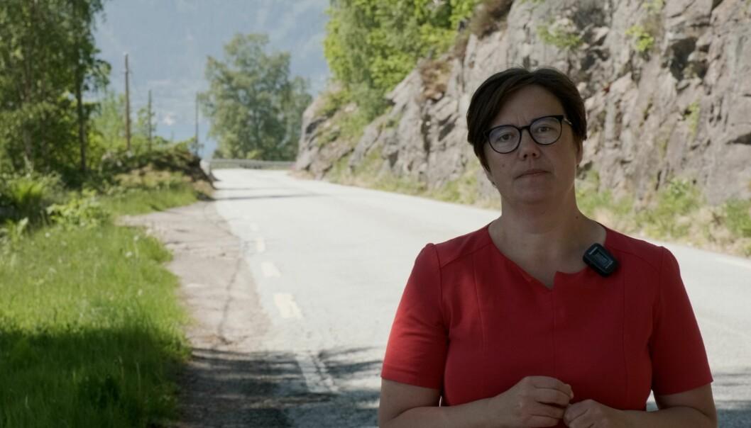 AVGJERANDE: Hege Lothe (SV) meinar at trygge bruksvegar er avgjerande for at folk skal kunne bu og arbeide i distrikts-Norge.