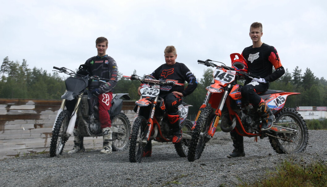 NM: Martin Sanden, Mathias Dahl og Elias Selseng Johansen sikra Sogn Motorsportklubb mange solide plasseringar under NM i speedcross.