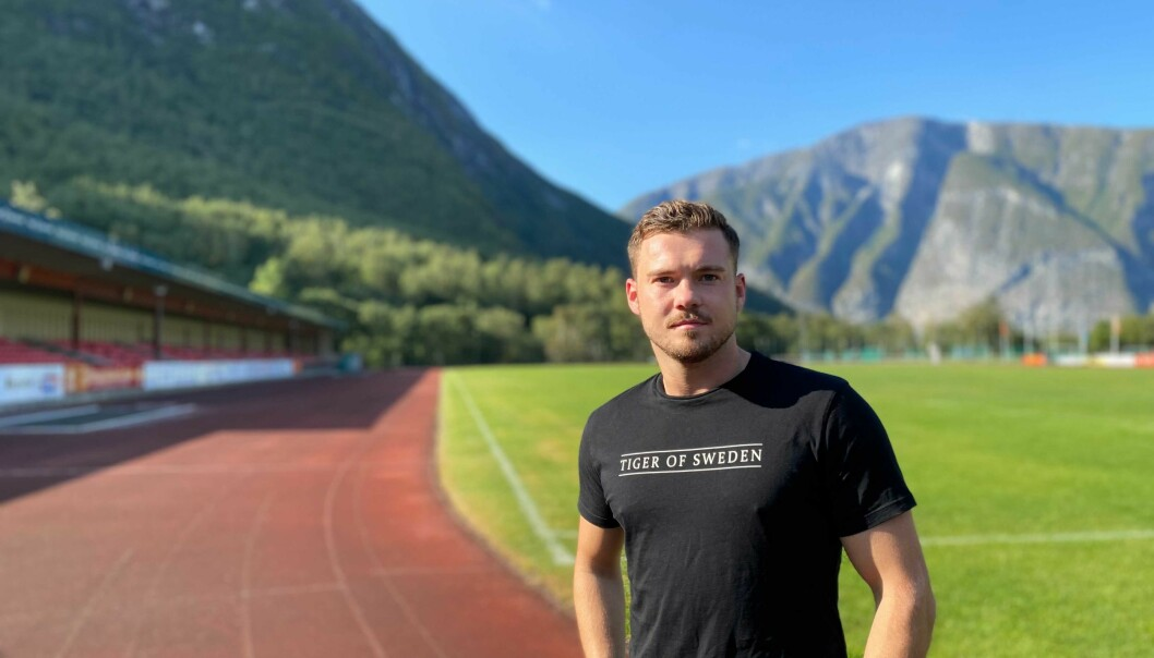PÅVERKA: Fredrik Sørli er blant fleire spelarar på Årdal FK som slit med å kome tilbake i form etter koronasmitte. Sjølv merka han ikkje noko til symptoma frå sjukdommen før etter at han vart friskmeld.