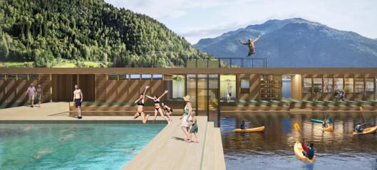 Restaurant senka ned i fjorden og flytebasseng skal trekka turistar til Balestrand heile året