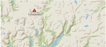 Redningshelikopter henta skadd turist i Jostedalen