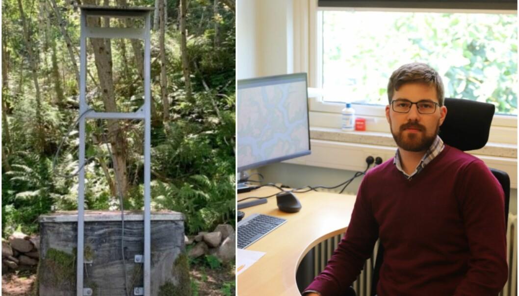 TESTAR: Sjef for avløp og vatn i Sogndal kommune, Gjert Aaberge Dahl fortel at det har blitt analysert prøver i løpet av helga. Eit nærare svar om vatnproblem kjem truleg i løpet av veka.
