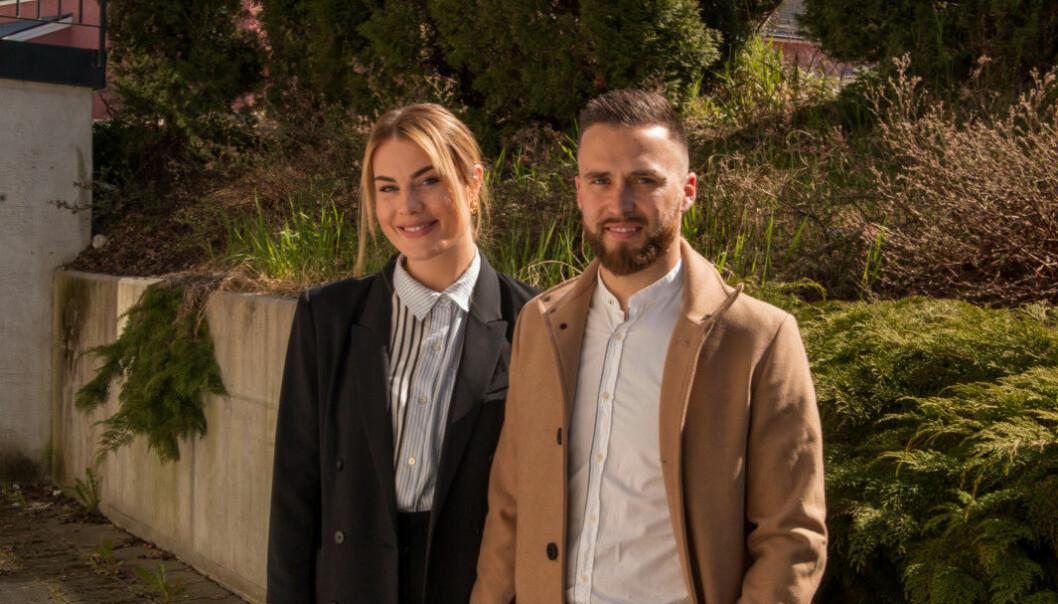 DUOEN: Pia Berg Hjelmeland og Victor Aguiar satsar saman på det nye konseptet i Sogndal sentrum. På veg mot opning har det førebels vore eit par humpar i vegen.