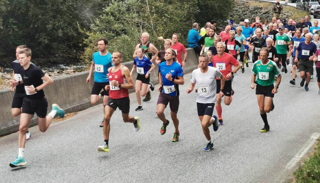 LÆRDAL: Over 200 ivrige løparar og mosjonistar deltok på Galdane Rundt laurdag føremiddag.