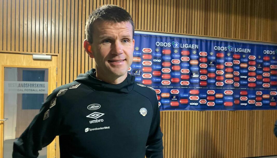 STRESSAR IKKJE: Eirik Bakke tek skuld for tapet heime mot Åsane i kveld, og forklarar laguttaket med eit tett kampprogram i OBOS-ligaen.