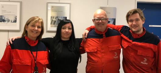 Hydro Årdal vann pris for nyskaping: – Slik me ynskjer å jobba