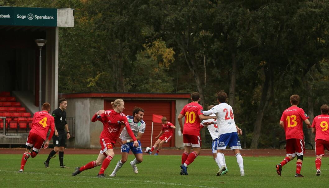 ENDELEG: Jacob Frøyen Bergset vart den store helten da Årdal FK tok sin første siger på åtte kampar.