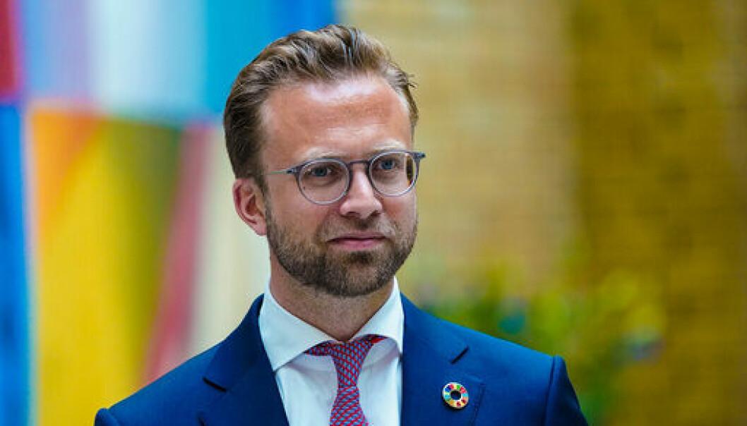 NØGD: Kommunane kjem godt ut i statsbudsjettet, meiner kommunal- og moderniseringsminister Nikolai Astrup (H)