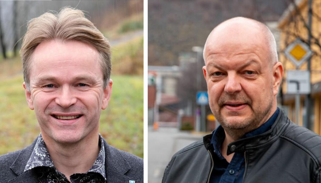 SAMARBEID: Rådsordførar i Hardangerrådet Torgeir Næss (t.v.) og leiar for Sogn regionråd Hilmar Høl.