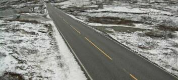 Glatte parti mellom Tyin og Årdal. Snart kjem snøen