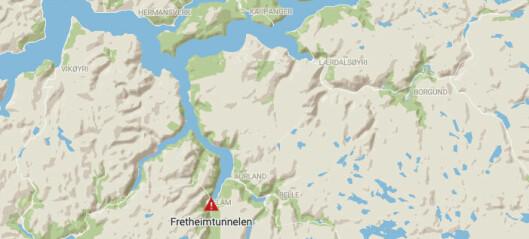 Bilbrann i Fretheimtunnelen: – Branntilløp i motorrommet