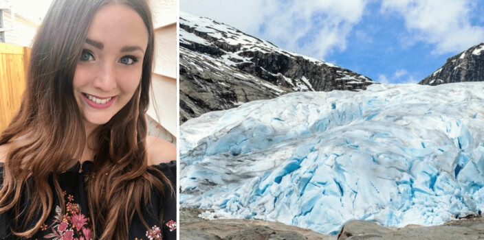 Kristine (30) frå Canada forskar på korleis isbresmelting påverkar lokalsamfunna i Sogn: – Eit uunngåeleg teikn på klimaendringar